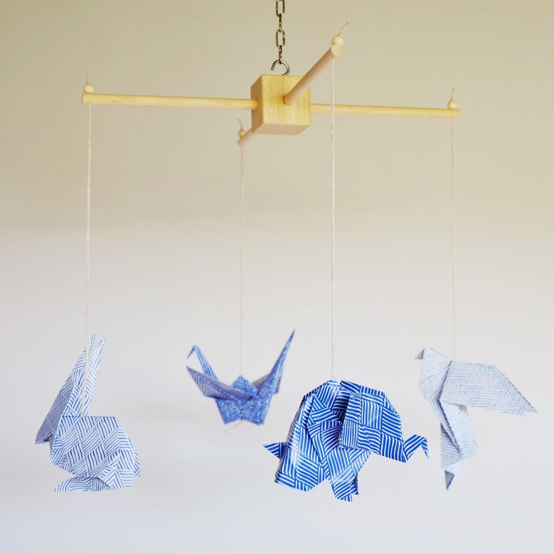 Giostrina di origami animali