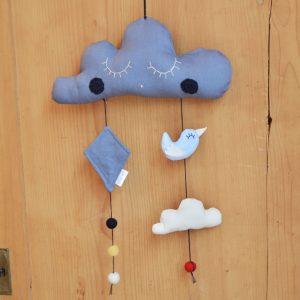 Giostrina culla nuvola blu