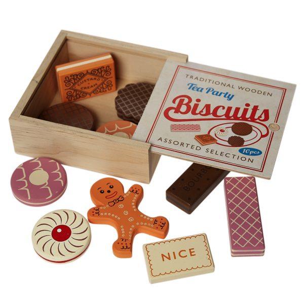 Gioco biscotti assortiti legno