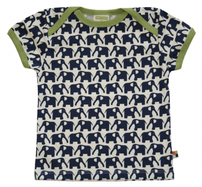 t-shirt con elefanti blu