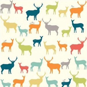 ELK FAMILY MULTI tessuto Birch fabric