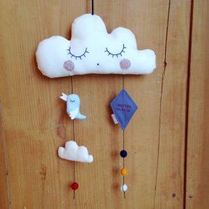 Giostrina culla nuvola bianca