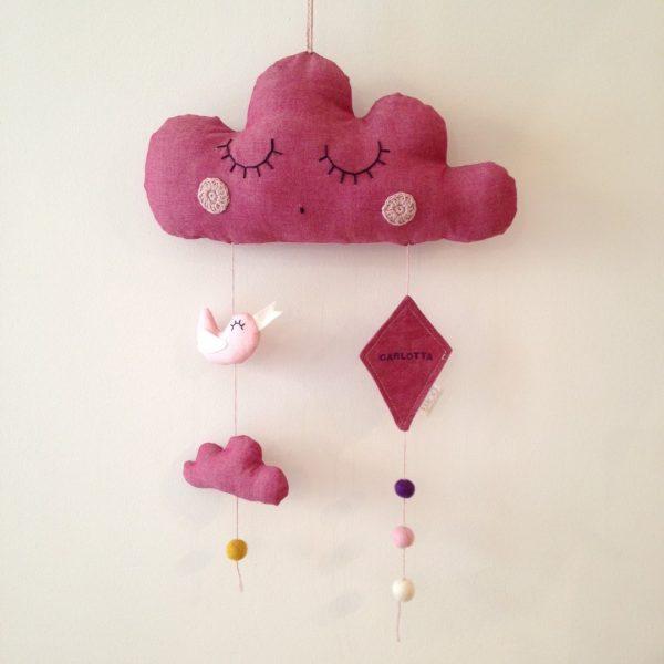 giostrina culla nuvola rosa