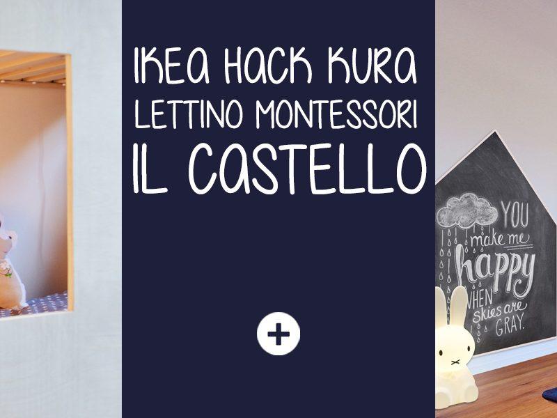 """Ikea hack kura: lettino Montessori """"IL CASTELLO"""""""