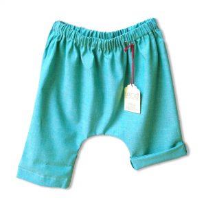 Pantaloncino pescatore verde