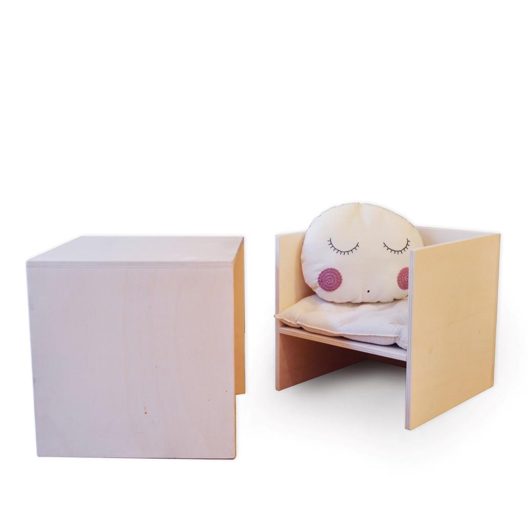 Babookidsdesign Tavolo Baboo Cubo Di Sedia Decor Set wmNn08