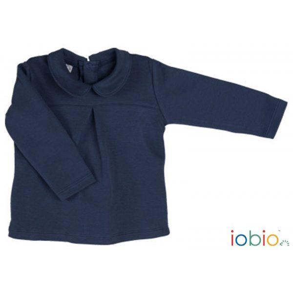Blusa maniche lunghe blu Popolini