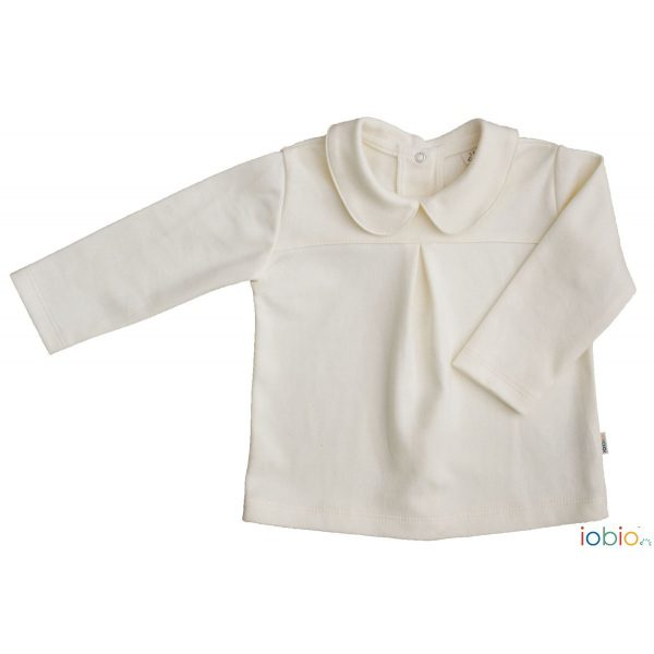 Blusa maniche lunghe ecrù Popolini