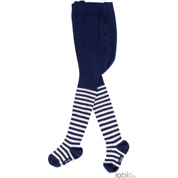 calzamaglia blu righe ecru