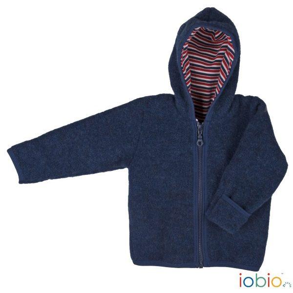 Cardigan con cappuccio pile di lana Popolini