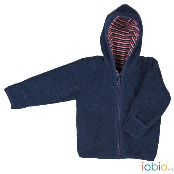 giacca pile di lana blu