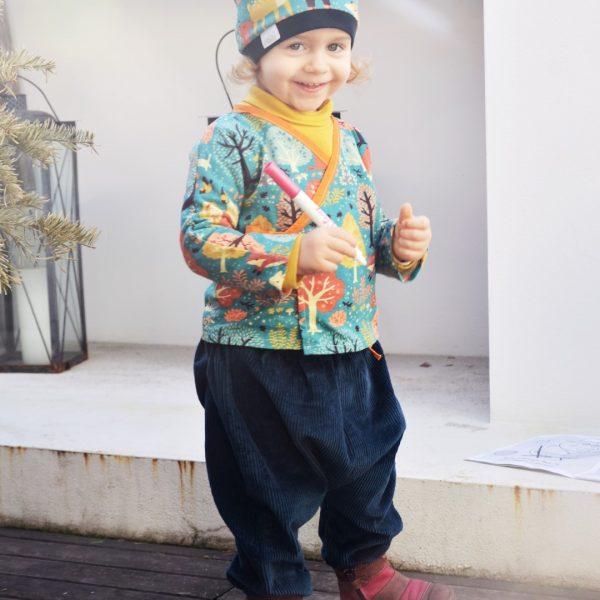 Pantaloni turchi in velluto Baboo