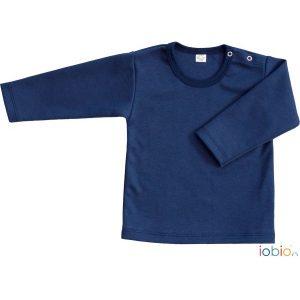T-shirt maniche lunghe blu Popolini