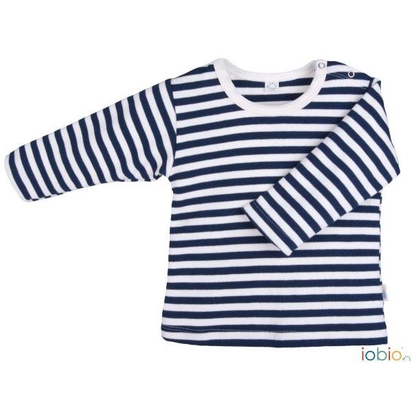 t-shirt manica lunga righe blu