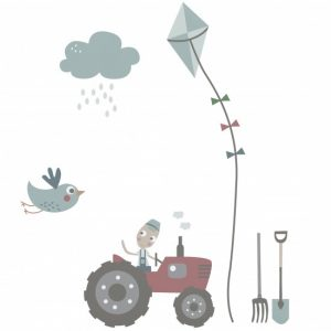 Wallsticker Farm boy Sebra