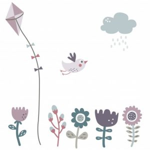 Wallsticker Farm girl Sebra