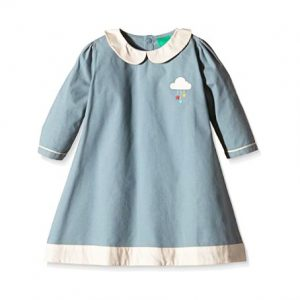Abito tunic blu cenere Little Green Radicals