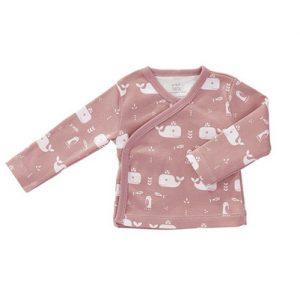 Coprifasce cotone bio balene rosa Fresk