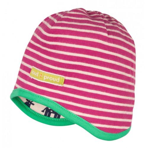 cappellino reversibile fucsia