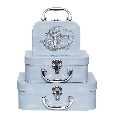Set tre valige volpe blu cielo