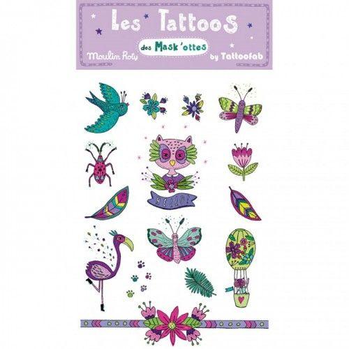 Tatuaggi viola Les Mask'ottes Moulin Roty