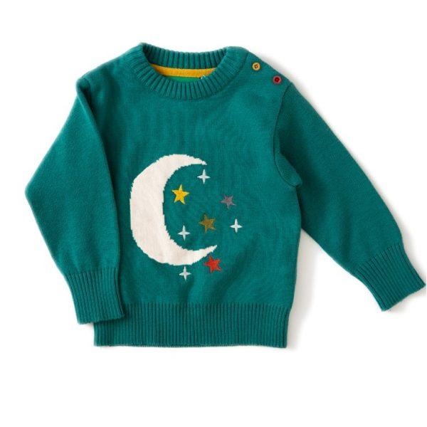 Pull cotone bio Luna smeraldo