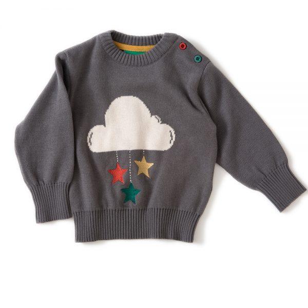 Pull cotone bio Nuvola grigio