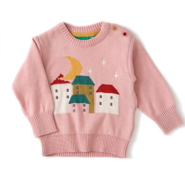 Pull cotone bio Villaggio rosa