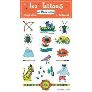Tatuaggi arancione Les Mask'ottes Moulin Roty