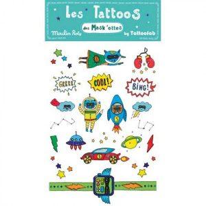 Tatuaggi azzurri Les Mask'ottes Moulin Roty