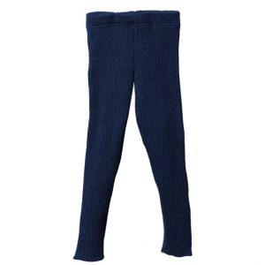 Leggings di lana merinos blu notte Disana