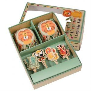Set per cupcakes animali del mondo