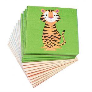 Tovaglioli di carta animali del mondo