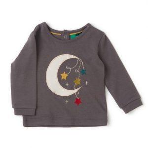 Maglietta con applicazione Luna grigio
