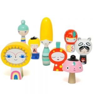 Mr Sun and Friends figure in legno