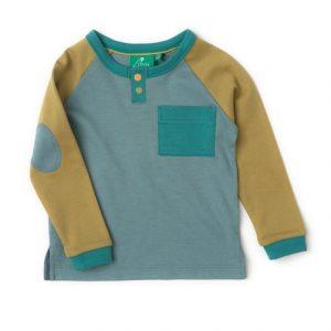 Maglietta maniche raglan blu senape