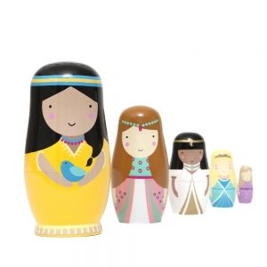 Matrioska principesse in legno