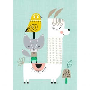 Poster Lama and Friends di Suzy Ultman