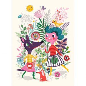Poster Sweet fox di Helen Dardik