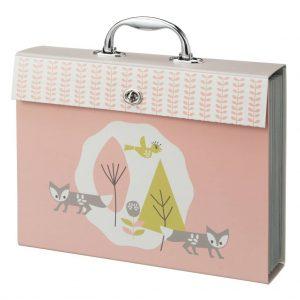 Valigia nascita e ricordi cartonata rosa
