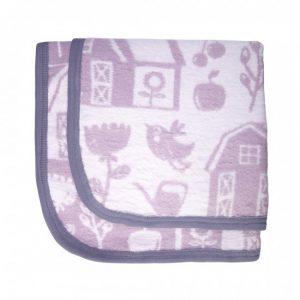 Coperta cotone spazzolato lilla Farm girl