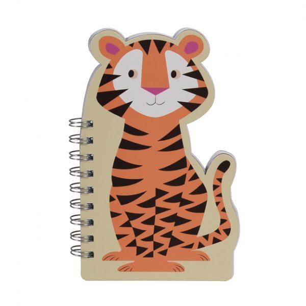 Quaderno spirale sagomato tigre