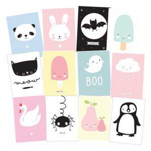 Set 12 cartoline Cute kids