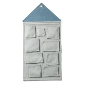 Pannello porta oggetti casetta blu cenere