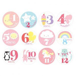 Adesivi primi 12 mesi Little girls