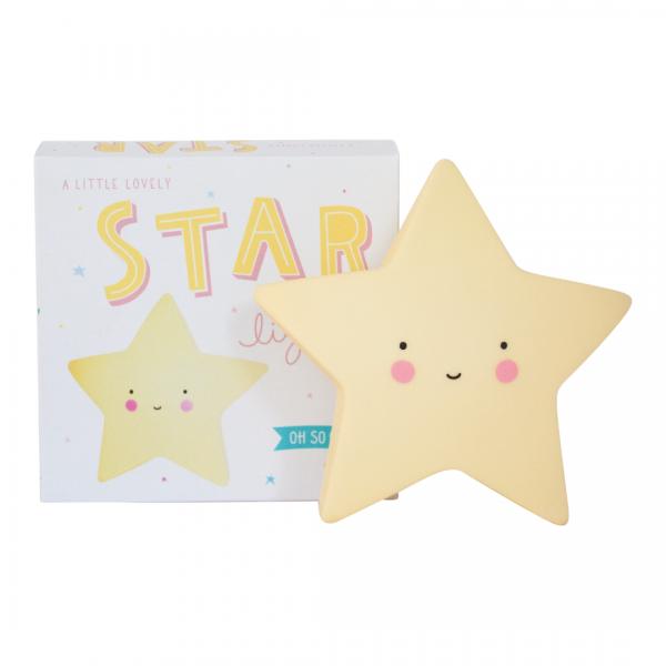 Mini lampada notturna stella gialla