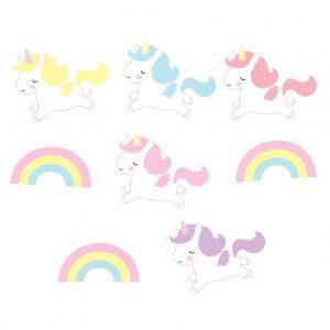 Ghirlanda unicorni arcobaleno