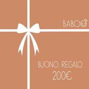 Buono regalo da Baboo 200€