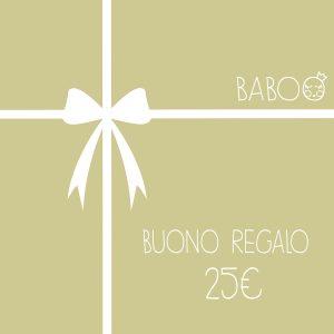 Buono regalo da Baboo 25€
