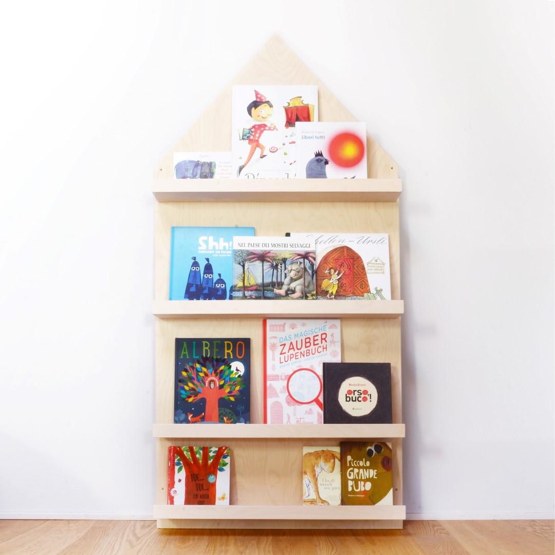 Libreria frontale montessori la casa dei libri - Porta libri montessori ...
